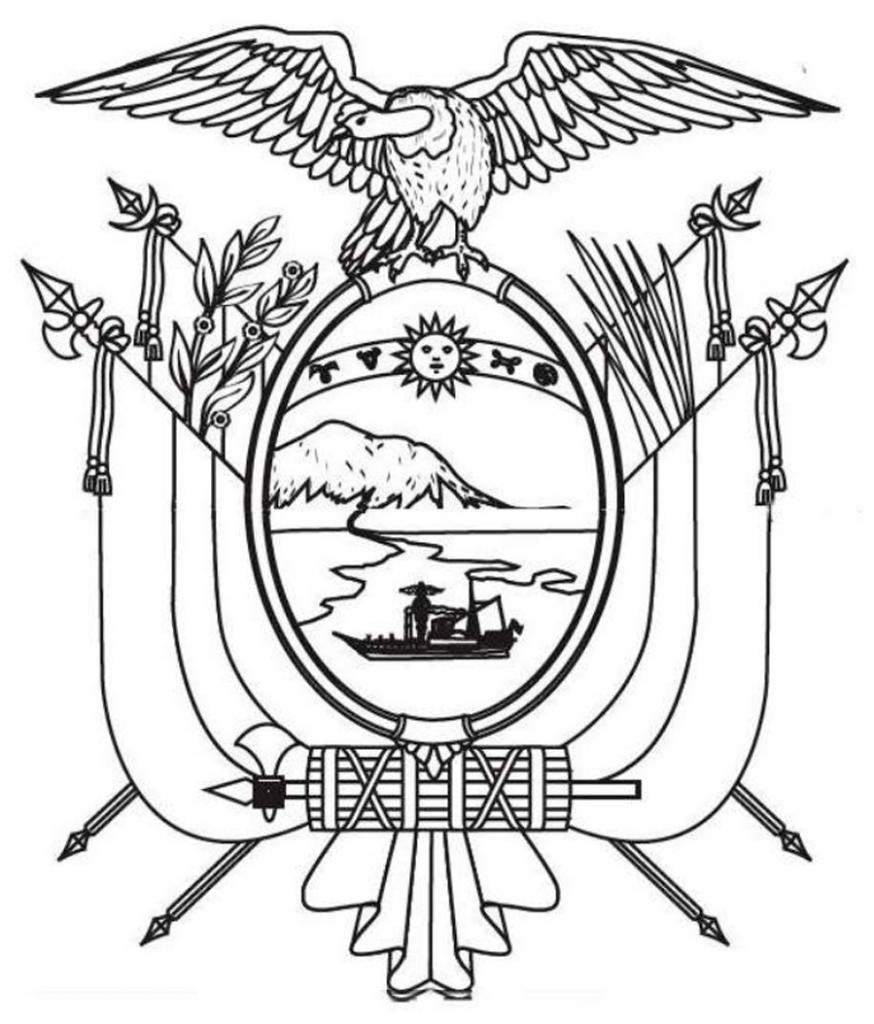 Escudo del Ecuador para pintar