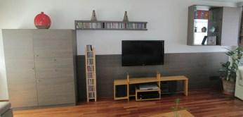 Living - Mueble AV en melamina marca Faplac linea Nature diseño Carvalho Aserrado