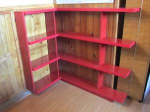 Hogar - Playroom - Biblioteca en melamina roja