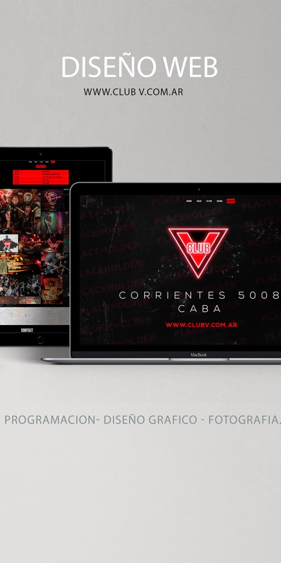 Diseño Web - Club V
