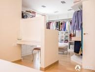 Separación vestidor-dormitorio