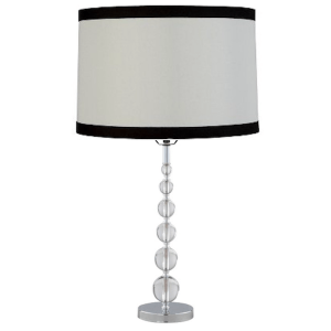 acrylic lamp with straight white and black drum