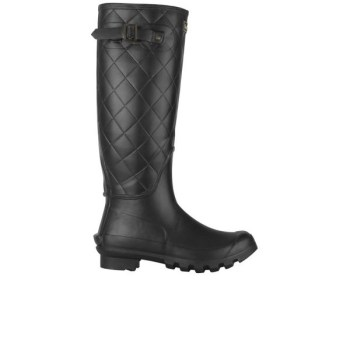 women's setter quilted wellington boots - black