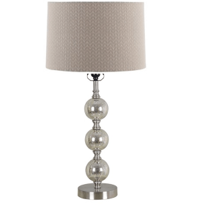 mercury stacked ball lamp with chevron shade