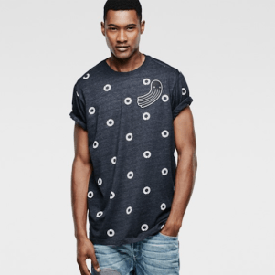 RAW for the Oceans Polka Dot Tee, $65