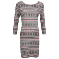 Superdry Jacquard Knitted Bodycon Dress - Pop Coral, $58.85
