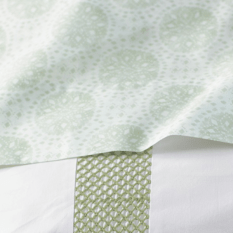 Coyuchi Lattice Collection Sand Dollar Sheet Set 2 King, $348; Queen, $298