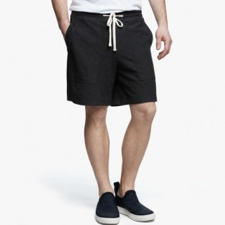 James Perse Heathered Knit Short Heather Charcoal, $175