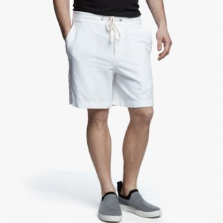 James Perse Heathered Knit Short White, $175