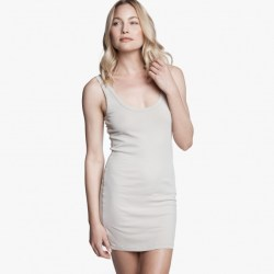 James Perse Long Skinny Tank Dress Driftwood, $85
