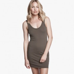 James Perse Long Skinny Tank Dress Platoon, $85