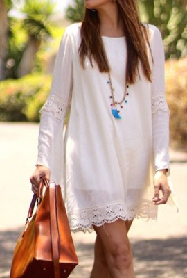 Moonlight lover White Lace Dress, $21.99