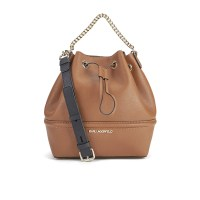 Karl Lagerfeld K:Klassik Drawstring Bag Tan, $413.25