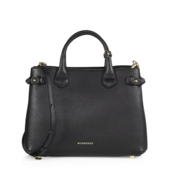 Burberry Banner Medium Satchel Black, $1,595