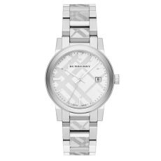 Burberry Check Stamped Stainless Steel Watch, $595