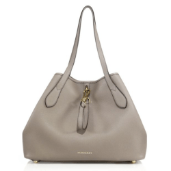 Burberry Honeybrook Medium Derby Leather Tote Thistle Grey $1,395