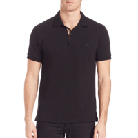 Burberry Oxford Polo Black, $175