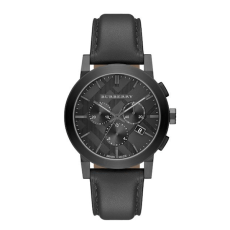 Burberry Round Stainless Steel Chronograph Watch, $695