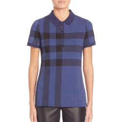 Burberry Signature Plaid Polo Blue, $250
