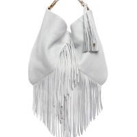 Etienne Aigner Fringe Moda Hobo Bag Optic White, $395
