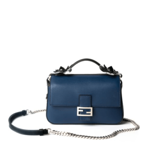 Fendi Flower Studded Double Baguette Blue, $2,600