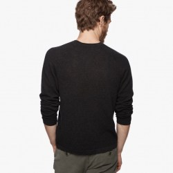 James Perse Cotton Cashmere Thermal Raglan Back Dust Storm, $295