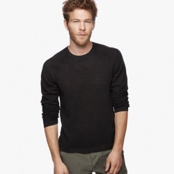 James Perse Cotton Cashmere Thermal Raglan Nightshade, $295
