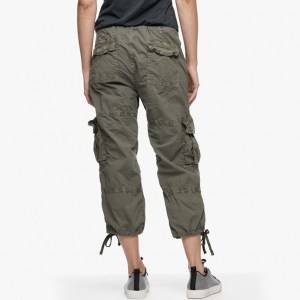 James Perse Cropped Cargo Pant Trooper Pigment Back, $245