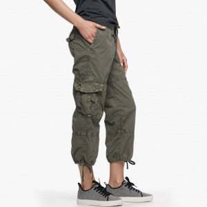 James Perse Cropped Cargo Pant Trooper Pigment Side, $245
