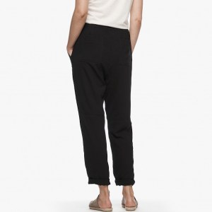 James Perse Double Layer Utility Pant Black Back, $295