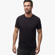 James Perse Short Sleeve Crew Neck Black, $60