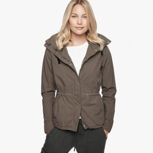 James Perse Shrunken Ripstop Parka, $595