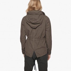 James Perse Shrunken Ripstop Parka Back, $595