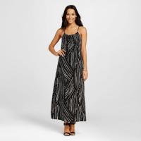 Merona Printed Maxi Dress Black, $29.99