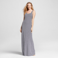 Merona Striped Maxi Dress Fresh White Opaque, $29.99