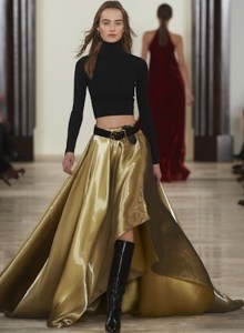 Ralph Lauren Collection Timeless Classic Glamour Fall 2016 Collection Carmen Turtleneck, $1,090 Marissa Mikado Skirt $5,990