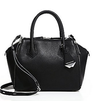 Rebecca Minkoff Mini Perry Leather Satchel, $395