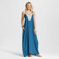 Xhilaration Crochet Trim Maxi Blue, $29.99