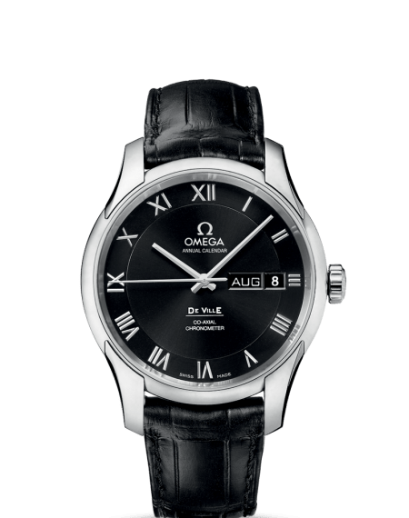 Omega DeVille Annual Calendar Black Watch Leather Strap $6,495 from $9,700