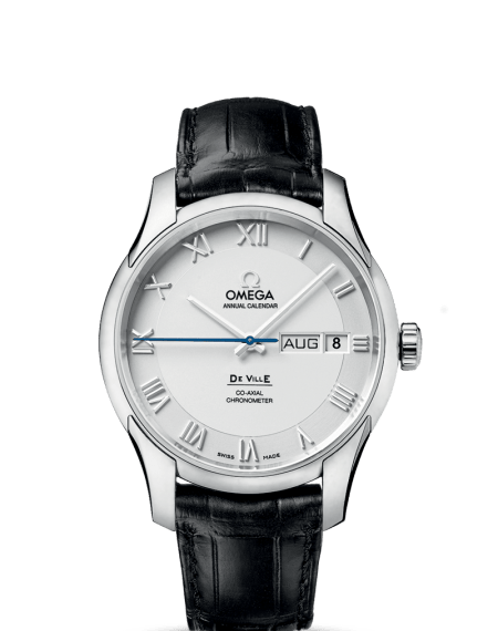 Omega DeVille Annual Calendar Watch Leather Strap $6,495 from $9,700