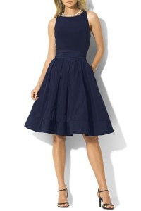 Lauren Ralph Lauren Jersey & Taffeta Dress, $198