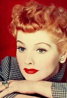 The Trend Dramatic RED Lips Lucille Ball