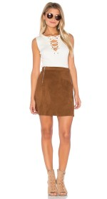 1. State A Line Zipper Skirt $99