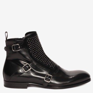 Alexander McQueen Studded Buckle Boot $840