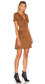 Lucy Paris Jaida Faux Suede Lace Up Dress $70