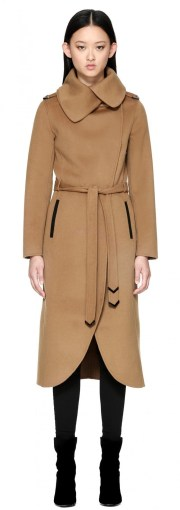 Mackage Catia Wool Trench Spread Collar, $850