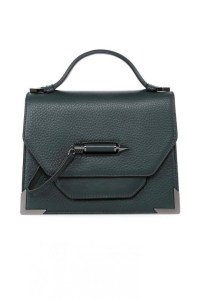 Mackage Keeley Dual Leather Shoulder Bag Pine, $450