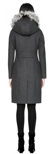 Mackage Mila-X Wool Coat Fur Trim Hood $850