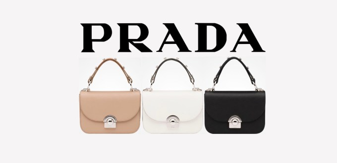 Prada Calf Leather Arcade Bag