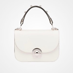Prada Calf Leather Arcade Bag White $2,750